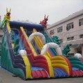Бесплатная доставка по морю высокое качество пвх коммерческий слайд, Надувной замок слайд с воздуха для детей
