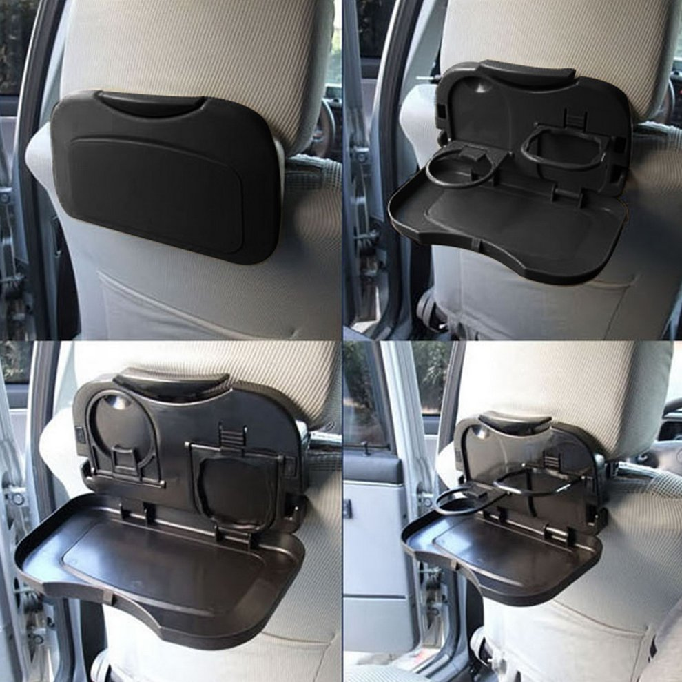 Universal Folding Auto Cup Holder Car Back Seat Table Drink Food Tray Auto Travel Desk Foldable Car Accessory