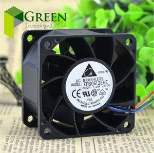 O Original Delta 6CM 60mm servidor ventilador do ventilador violento 6038 12V 1.2A FFB0612EHE modificado 3pin