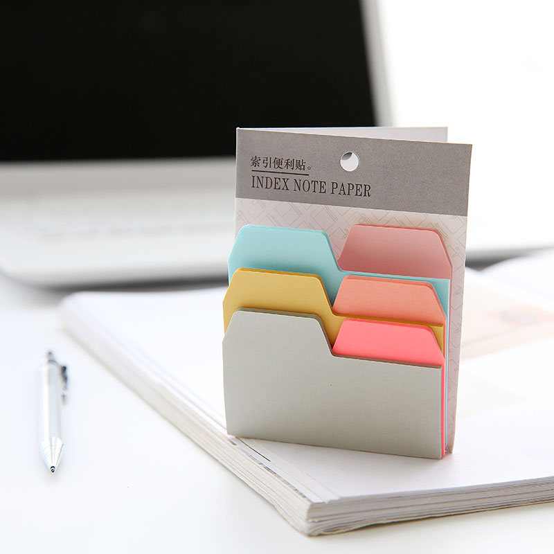 6 Colors 90 Sheets Writable Index Note Paper Sticky Notes  Memo Pad Stationery Office Accessory School Supplies
