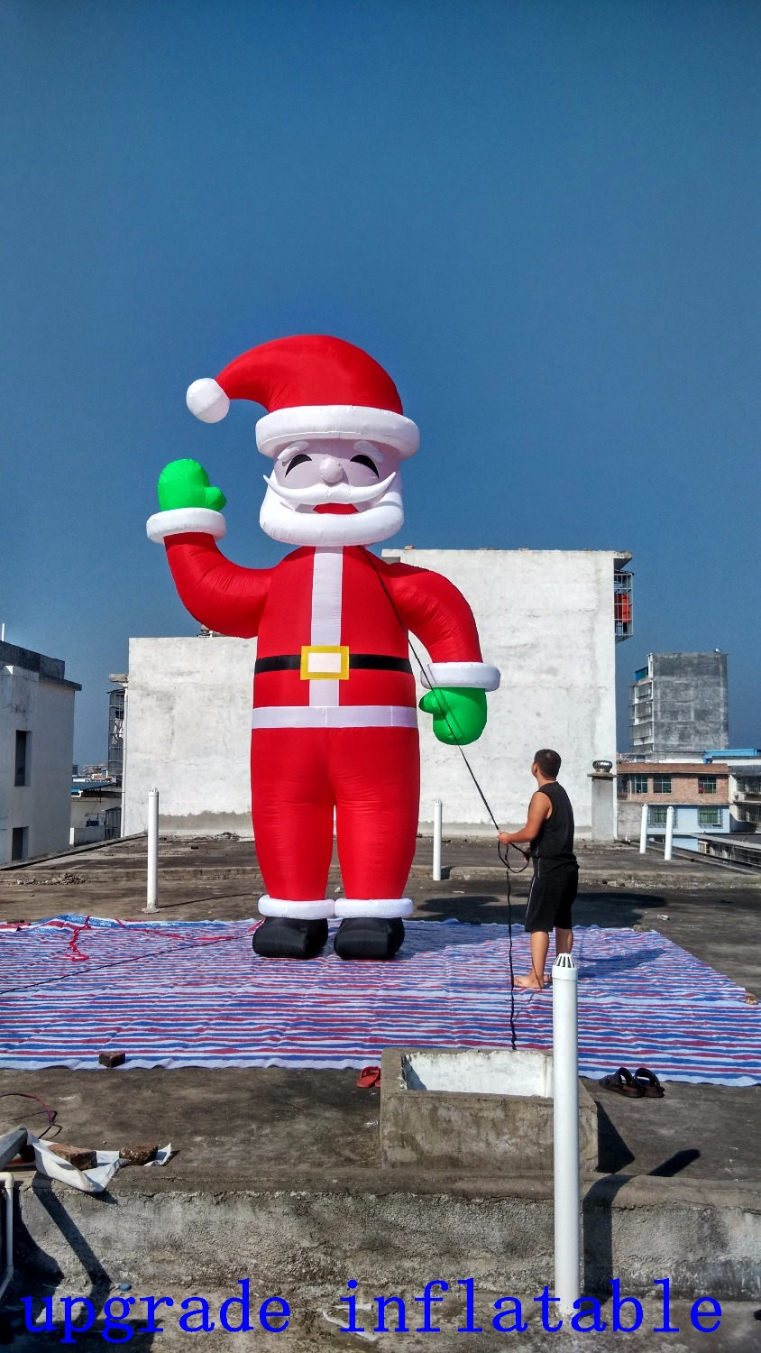 Giant inflatable santa claus lighted outdoor