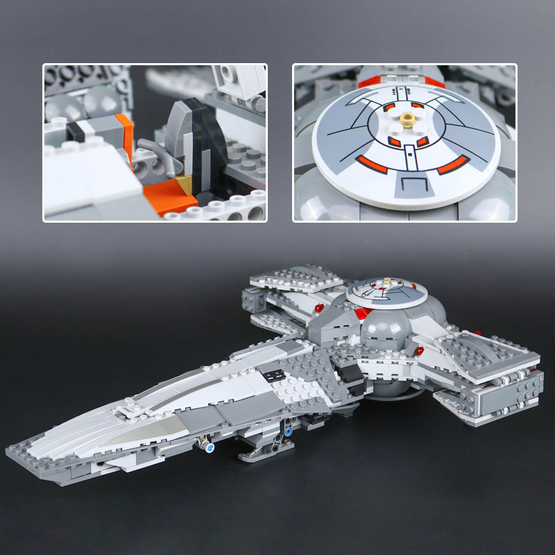LEPIN 05008 Star Series War Force Toys Awakens Infiltrator Building Blocks Bricks Educational Toys legoing 70596 Model for Boys new lepin 698pcs 05008 star wars sith infiltrator figure marvel building blocks set toys compatible legoed with 7961