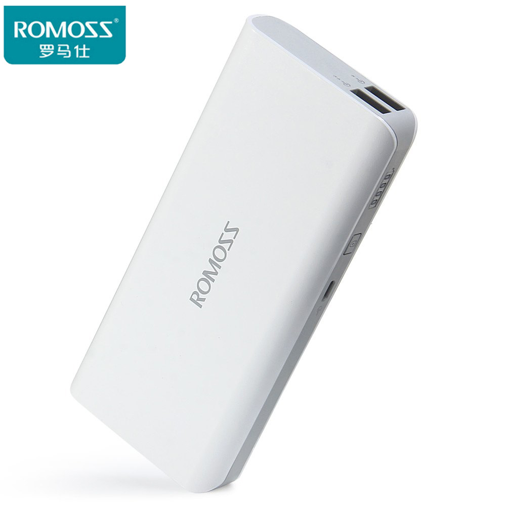 imágenes para Original ROMOSS 10400 mAh Banco de la Energía PowerBank Romoss Sense4 para OPPO iPhone7 Tablet PC Portable de la Energía 5 V 1A/2.1A Dual USB de Salida