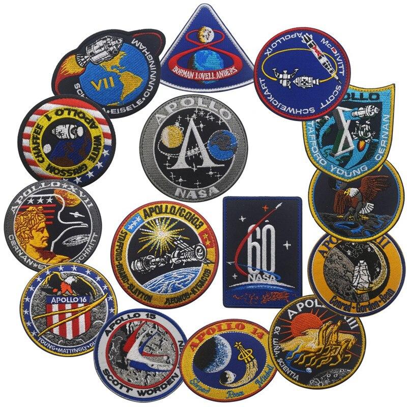 VINTAGE-ORIGINAL-APOLLO-11-VOYAGER-EMBLEMS-BACK-SPACE-PATCH-Collage-USA-Apollo-Mission-Patch-Set-1