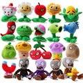 20 unids/set Plants vs zombies peluches, muñecas juego, PVZ 13 - 20 cm alta para los niños juguetes, envío gratis