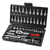 46pcs Multifunctional Professional Steel Socket Wrench Tool Set Car Repair Toolbox Automobile and Motorcycle Tools Hand Tool Sets     -