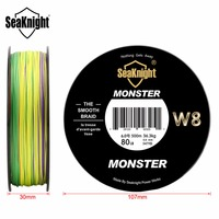SeaKnight Monster W8 Multi Color 8 Strands 500M PE Fishing Line 15 20 30 40 50 80 100LB Smooth Braided Fishing Lines