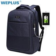 Универсальный компьютер зарядка через USB 15,6 дюймов ноутбук рюкзак для мужчин школьная сумка большой ёмкость повседневное стиль водостойкие