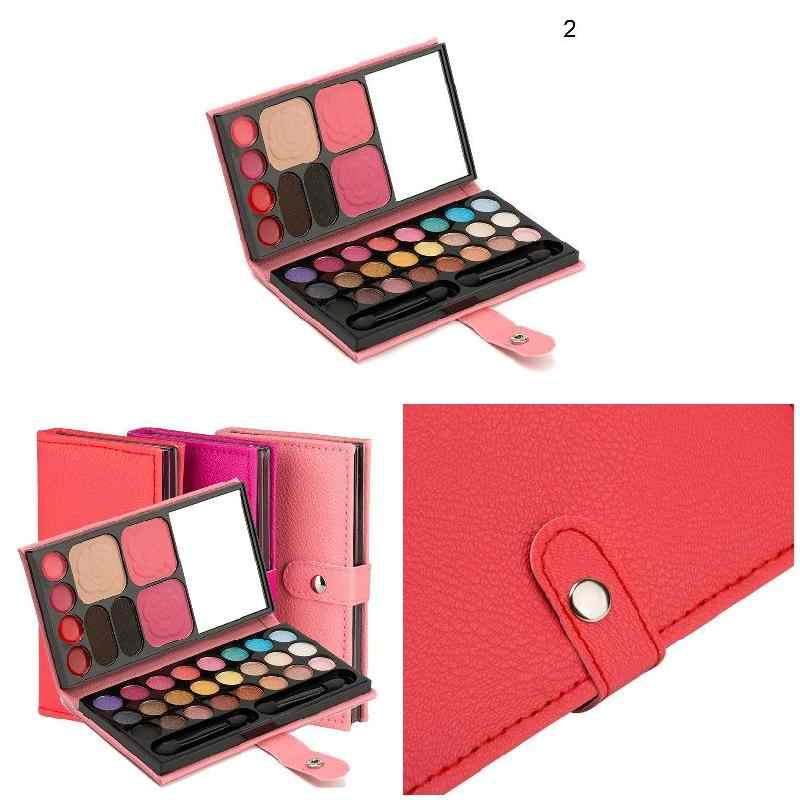 צללית צבעים 33 צבעים לאורך זמן סומק שפתון גבות אבקת נייד עבור נשים CD88