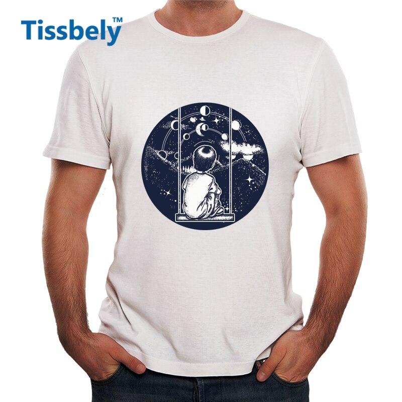 Tissbely Dreamer Men Tee Shirts Dreaming Genius T Shirt