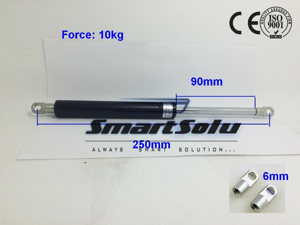 Free Shipping Gas Springs for Cabinet, Door, Kitchen 10kg/22lbs Force 250*90mm