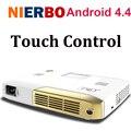 Nierbo dlp pico proyector led home video theater proyector interactivo electrónico 15000 mah batería hdmi proyector envío gratis