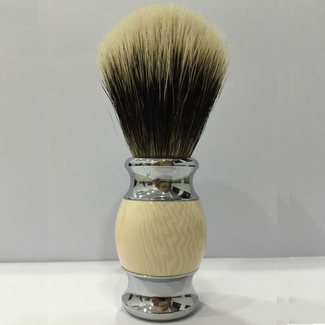 Soft Shaving Brush Badger Hair Men's Hand Made Chorme Plate Male Face Beard Shaving Cleaning Brush