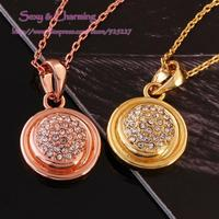 N807 Nickle Free Antiallergic Gold Color CZ Crystal Necklace Pendant Fashion Jewelry,Welcome Mixed Wholesale