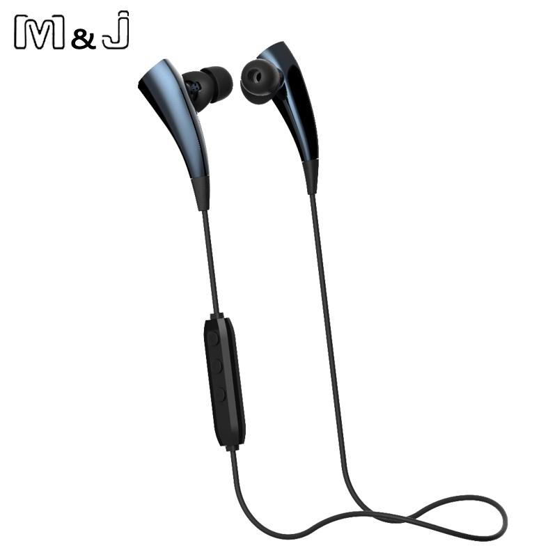 M&J J6 Magnetic Sport Necklace Wireless Bluetooth Earphones Stereo Noise Cancelling With Microphone Earbuds for iPhone Samsung 2016 white and black joway h 08 wireless noise cancelling voice control sports stereo bluetooth v4 0 earphones with microphone