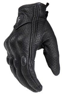 Free Shipping MOGE punch Goat Leather Pursuit Gloves Racing Bike Sport Cycling motor gloves Full Finger Gloves Size  M, L, XL