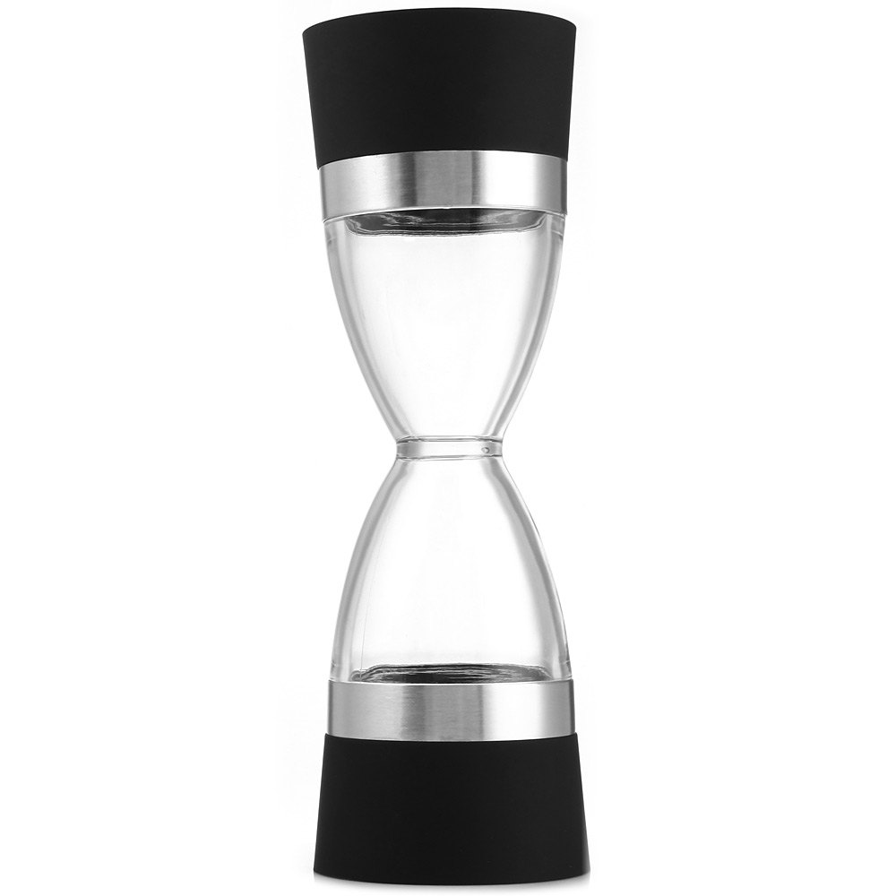 2pcs/lot Hourglass Shape Dual Salt Pepper Mill Spice Grinder for Kitchen Cooking Tools