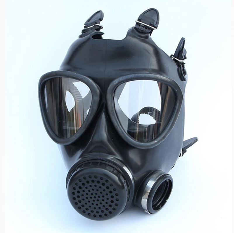Image 4 - 5 In 1 Industry Paint Spray Black Military Soviet Army Respirator Gas mask Silicone Laboratory Respirator With Filter 40mm-in Chemical Respirators from Security & Protection