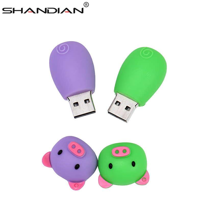 Image 2 - SHANDIAN Pen Drive Cartoon Pink Pig Pendrive 4GB 8GB 16GB 32GB 64GB Usb Flash Drive USB 2.0 Flash Memory Stick Disk on key Gift-in USB Flash Drives from Computer & Office