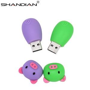 Image 2 - Shandian Pen Drive Cartoon Roze Varken Pendrive 4 Gb 8 Gb 16 Gb 32 Gb 64 Gb Usb Flash Drive usb 2.0 Flash Memory Stick Disk On Key Gift