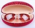 Очки чехол, Большие солнцезащитные очки чехол, Мода леопардовым принтом очки коробка, Бесплатная доставка розничные аксессуары