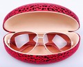 Glasses case, Large sunglasses case,fashion leopard print sunglasses box ,free shipping Retail accessories