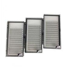 Длинные Стволовые горячие продажи 3 лотка/партия 3D 5D готовые вентиляторы прививки объем поддельные искусственные норковые ресницы кластеры 9 15 мм 3D норка