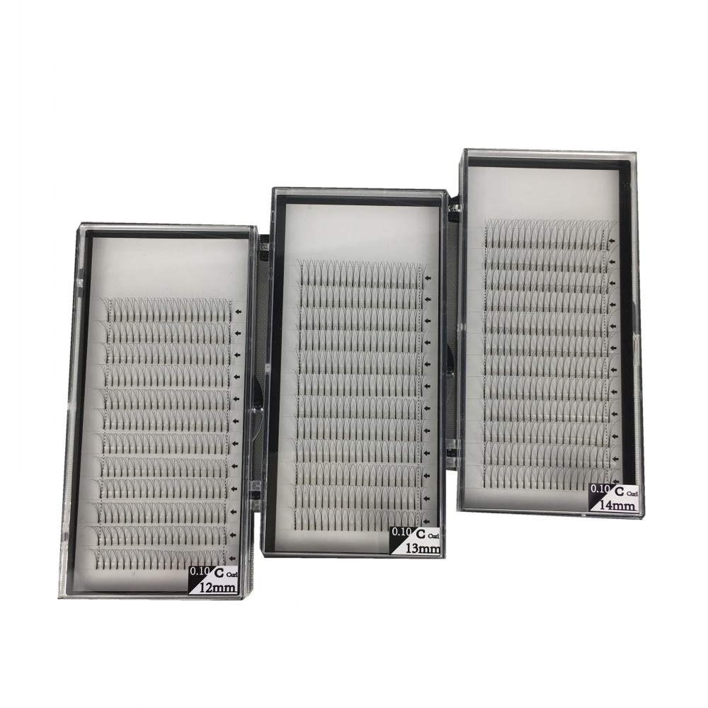 Long Stem Hotsale 3 Trays/lot 3D 5D Premade Fans Grafting Volume Fake Mink Eyelashes 3D False Clusters 9-15mm 3D Mink