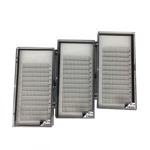 Image 1 - Long Stem Hotsale 3 Trays/lot 3D 5D Premade Fans Grafting Volume Fake Mink Eyelashes False Clusters 9 15mm 3D Mink