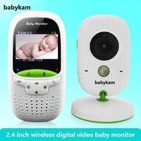 babykam babyfoon draadloos baby camera monitor 2.0 inch LCD IR Night Vision Temperature Monitor 8 Lullabies Baby Intercom nanny