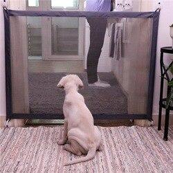 Portão cão Portátil Dobrável Guarda Segura de Produtos de Segurança de Proteção Malha Magia Portão de Estimação Para Cães de Guarda de Segurança Do Bebê Crianças Bebê cerca