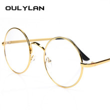 Oulylan Round Spectacle Glasses Frames for Men Harry Potter Glasses With Clear Glass Women Myopia Optical Transparent Glasses