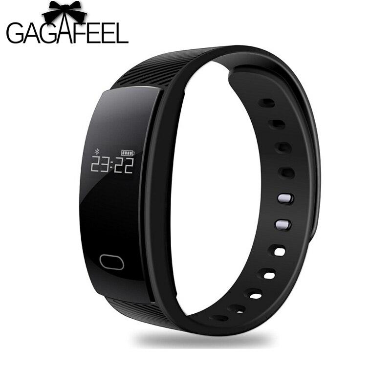GAGAFEEL Smart Uhr für Männer Frauen QS80 Bluetooth Smart Uhren Fitness Herz Rate Monitor Smart Armband Für Android IOS