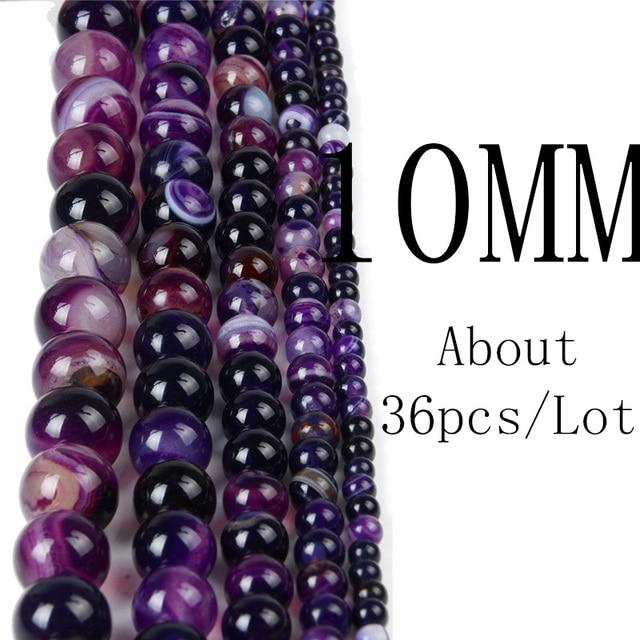 Chanfar 4 6 8 10 12mm Natural Stone Beads Black Lava Tiger Eye Bulk Loose Stone Beads For DIY Making Bracelet Necklace Jewelry