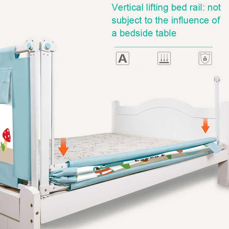 เด็กเตียงรั้ว 59 In - 78.7 Inc บ้าน Playpen ความปลอดภัยประตูผลิตภัณฑ์เด็ก Care Barrier สำหรับเตียง seguridad