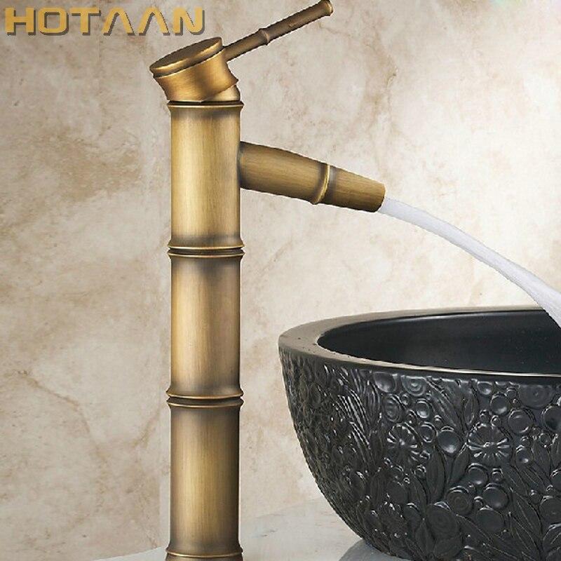 Livraison gratuite laiton Antique finition sortie salle de bains évier robinet poignée robinet d'eau bassin robinet lavabo robinet torneira