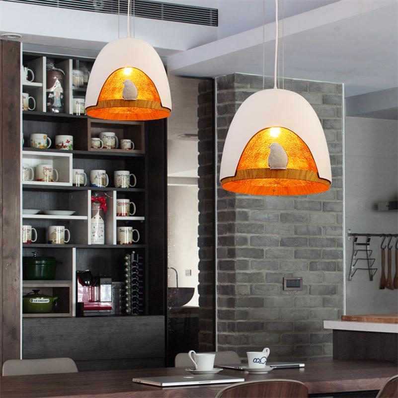 Nordic E27 LED Pedant Lights Warm White Pendente De Teto Pub Restaurant Bar Shop Home Retro Hanging Lamps Resin Bird Droplights neon sign for donuts bar cakes cave real glass tube beer pub restaurant signboard store display shop light signs 17 14