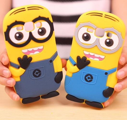 7103429b85a Nueva Llegada de Dibujos Animados Lindo 3D Esbirros de Goma Suave de La  Contraportada Capa para Fundas Coque Para Samsung Galaxy J1 de Silicona  Minion caso ...