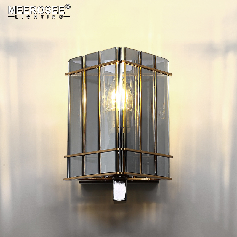 New arrival Wall Lamp Post Style Wall Light Lustres Abajur Wall Sconces Glass Wall Brackets Lighting Living Bedroom crystal wall light lustres wall sconces lamp bedroom wall brackets lighting fixture for bedroom living room 100% guarantee