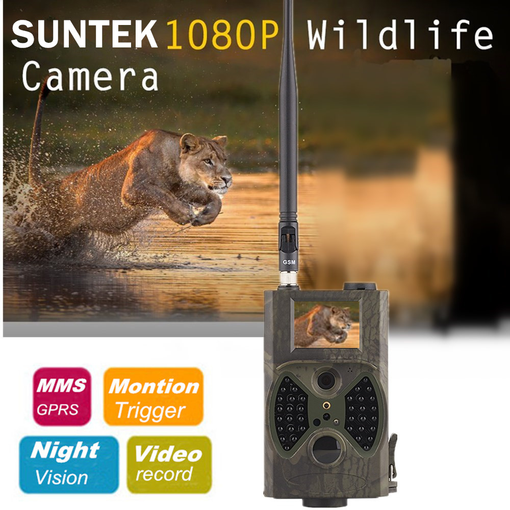 GSM MMS hunting trail camera hc 300m Suntek with 940nm Night vision LEDs infrared outdoor camera for hunting wild surveillance hot hd12mp 36 black ir led mms outdoor waterproof trail huntingcamera for suntek hc 300m safety iron boxes free shipping