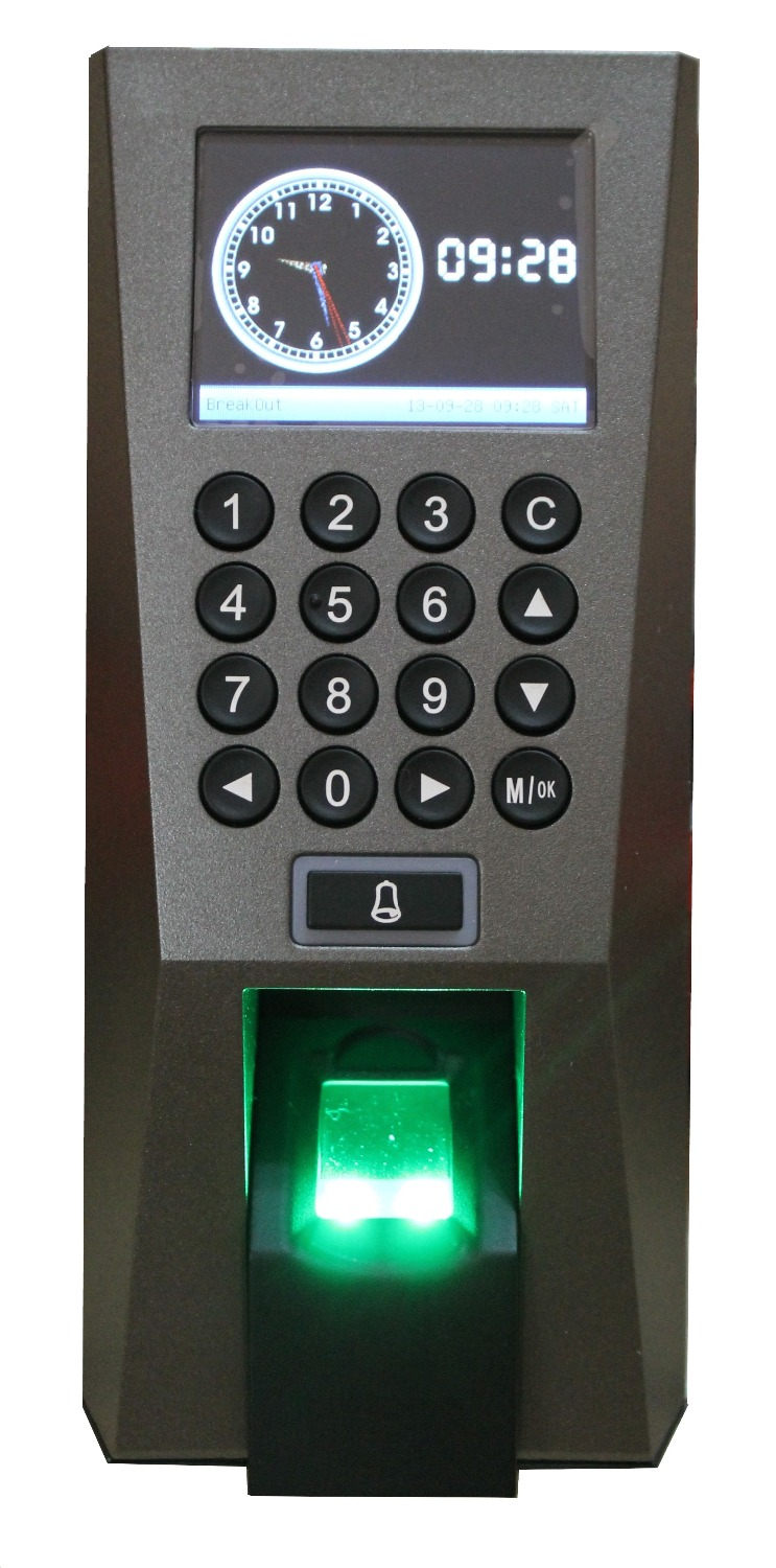 IC Access Control And Time Attendance F18 Fingerprint Door Entry System Professional Access Control System