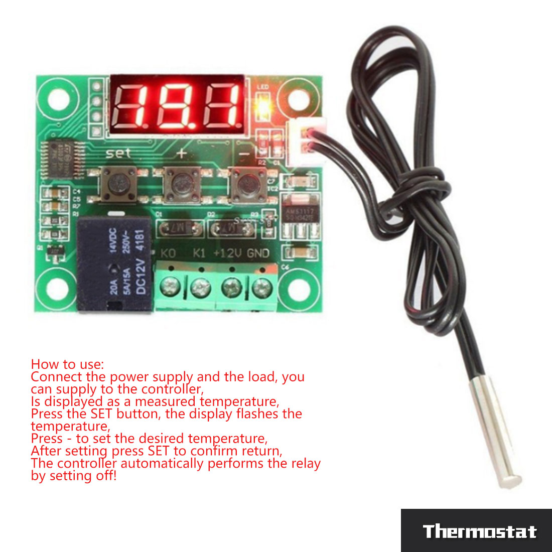 Dual Pid Temperature Controller Kit Ssr Output Rex C100 Digital Wiring Diagram 12 24v Heat Cool Temp Thermostat Control Switch Thermometer Thermo