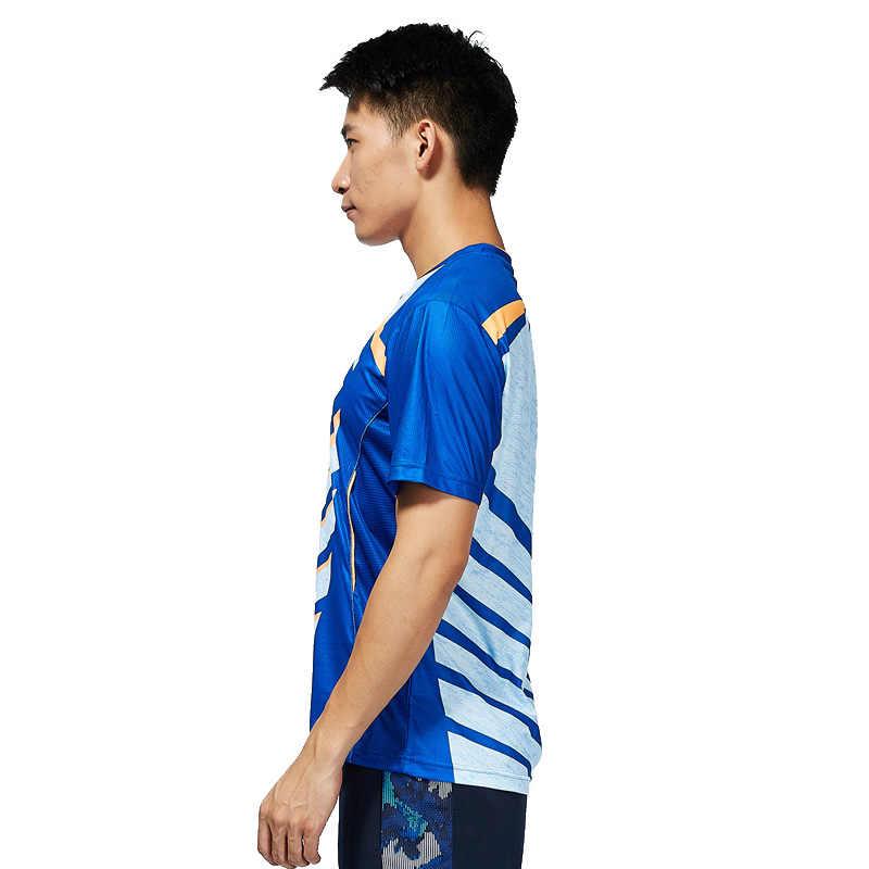 קוואסאקי בדמינטון חולצה גברים חולצה V צוואר קצר שרוולי טניס T חולצה לזכר צוות ספורט ספורט ST-T1013