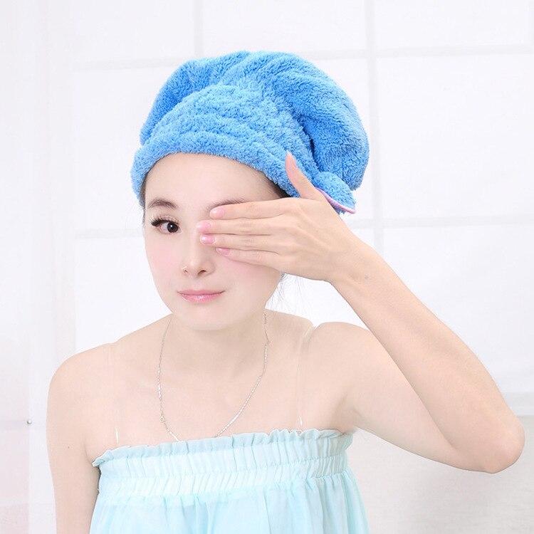 Sombrero de Pelo seco de Microfibra de Pelo Turbante Rápidamente Gorro de Baño S