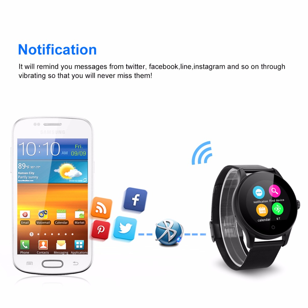 K88H Smart Watch HD Display Heart Rate Monitor Pedometer Fitness Tracker  Men Smartwatch Connected For Android IPhone
