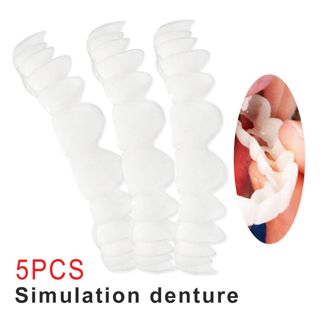 5pcs Temporary Smile Comfort Fit Cosmetic Teeth Denture Teeth Top Cosmetic Veneer Dentes White