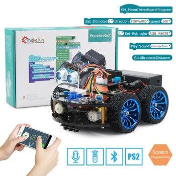 4WD умный робот автомобиль Diy для Arduino с Ble UNO R3, стартер Robotics Обучающий набор приложение RC ствол игрушка малыш, поддержка царапины библиотеки >> Keywish Store