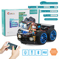 4WD Robot Auto voor Arduino Super Starter Kit Slimme Auto APP RC Robotica Learning Kit STEM DIY Speelgoed Kid, ondersteuning Scratch Bibliotheek