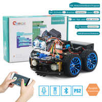 4WD Smart Robot Car Diy for Arduino R3,Starter Robotics Learning Kit APP RC STEM Toy Kid,Support Scratch Library