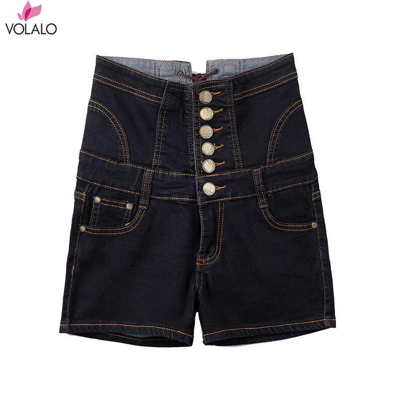 2019 New Mega code High Waist Fashion Women Jeans Shorts Female Summer Bundle Waist Show Skinny Short ,summer Shorts Women